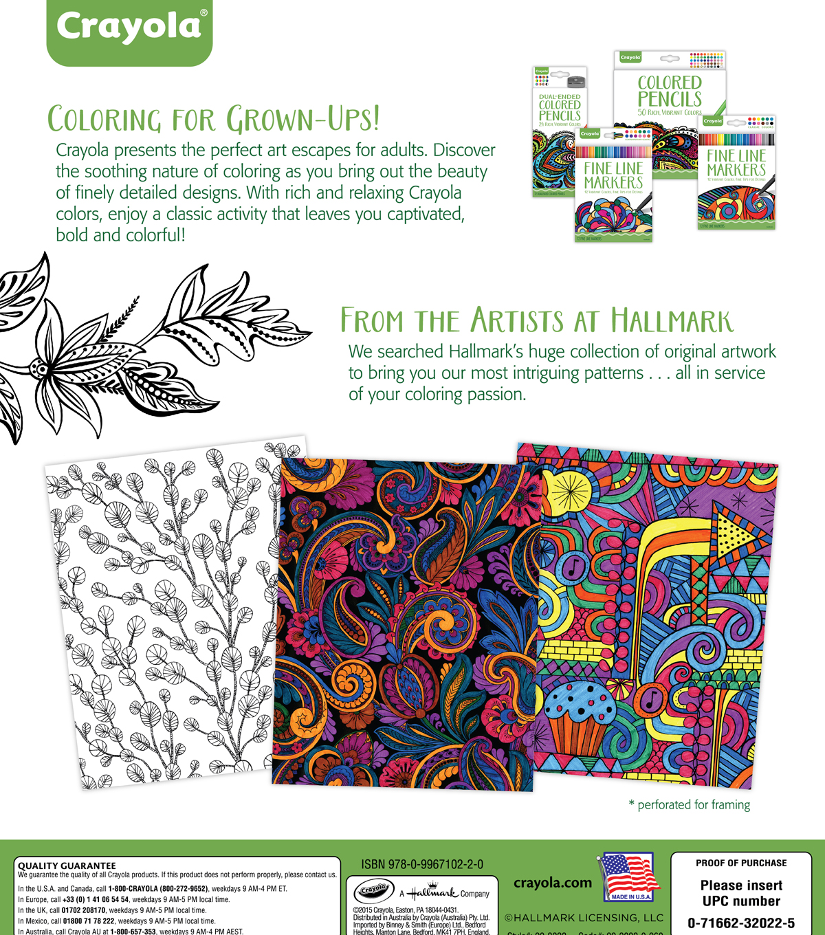Crayola Patterned Escapes Coloring Book | JOANN