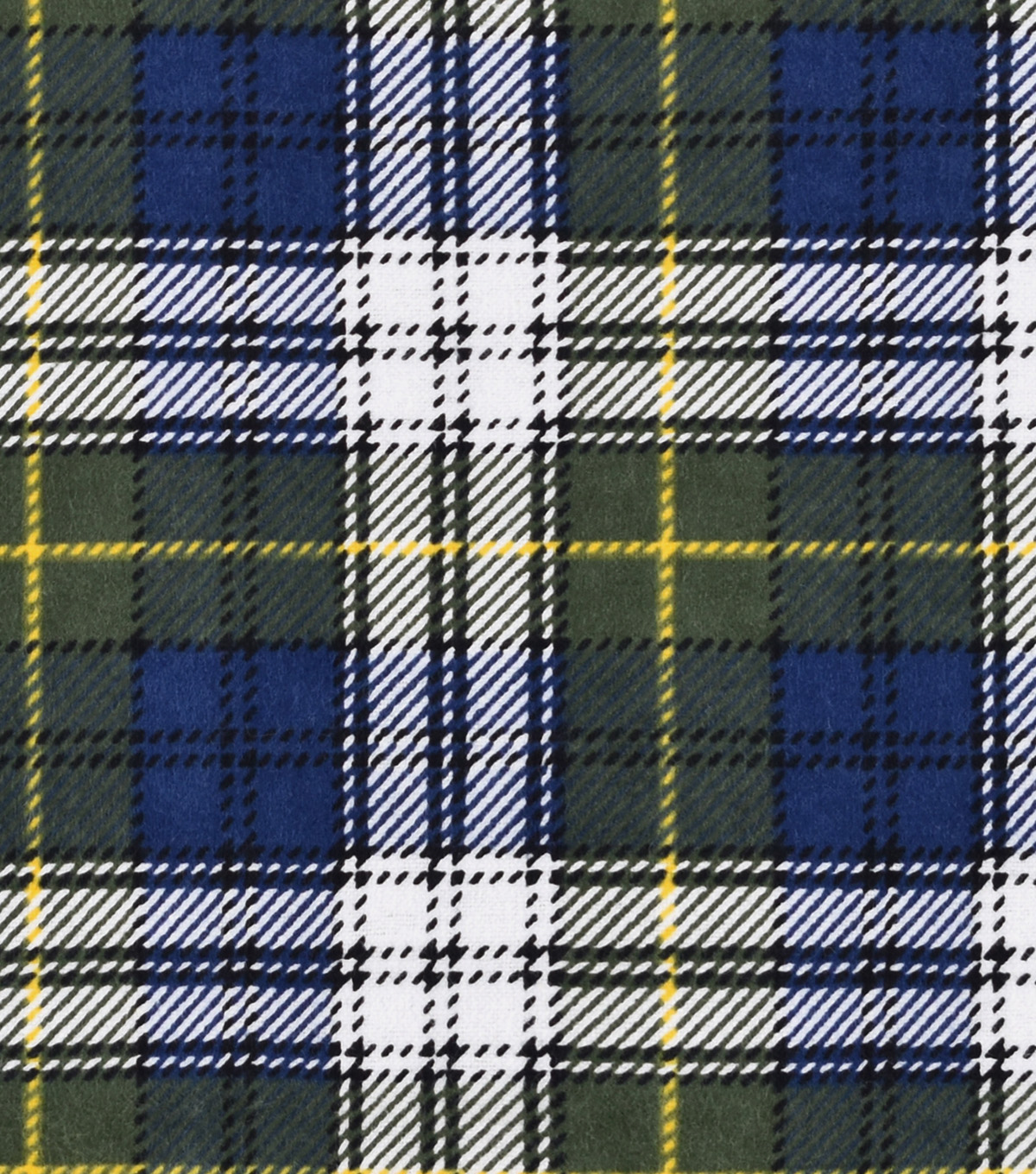 Snuggle Flannel Fabric -Blue Stewart Plaid