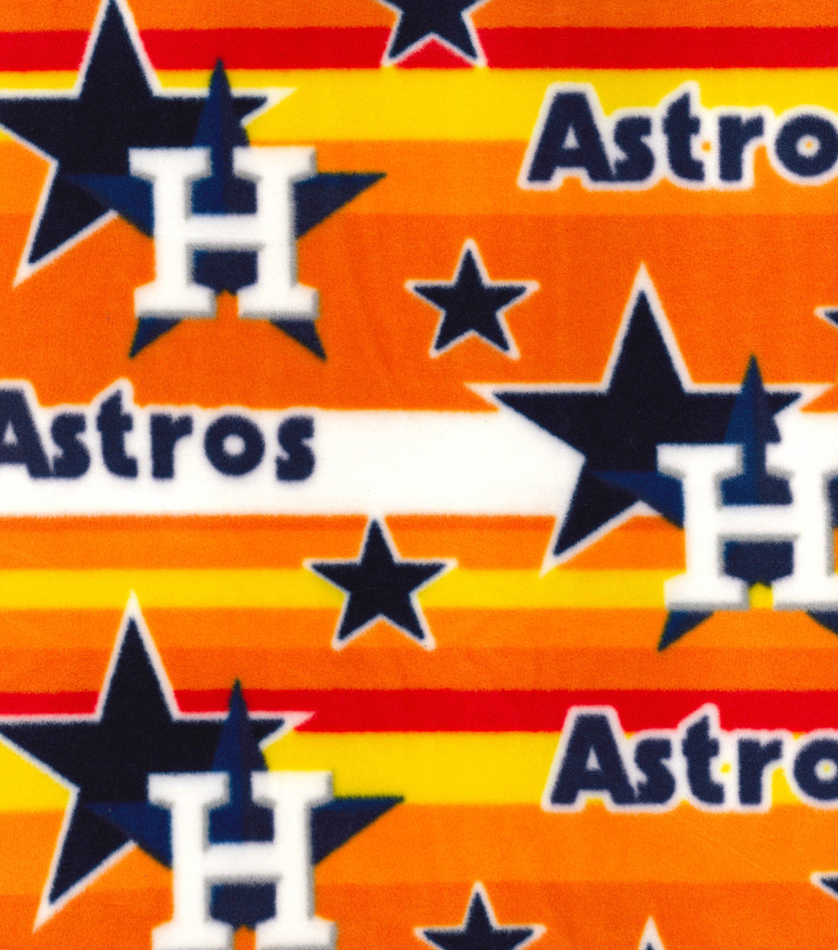 Houston Astros Fleece Fabric -Stripe