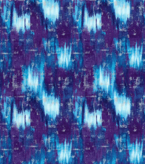 Modern Premium Cotton Print Fabric 43\u0027\u0027-Blue & Metallic Texture