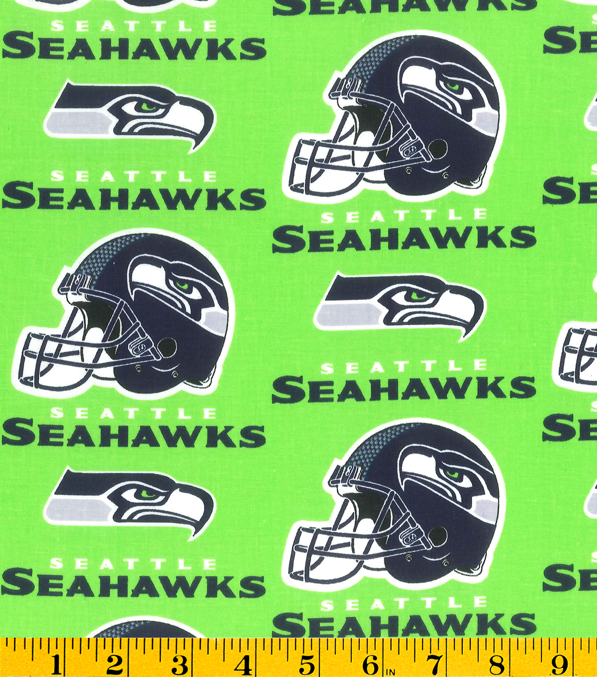 Seattle Seahawks Cotton Fabric 58\u0022-Green