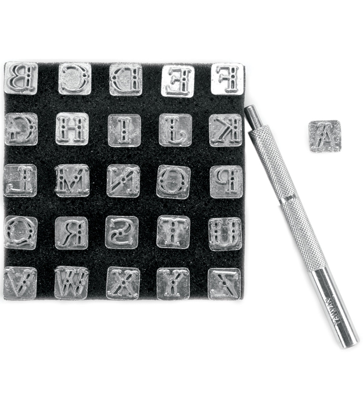 Tandy Leather Factory Easy-To-Do Series Stamp Set-Alphabet 1/4\u0022