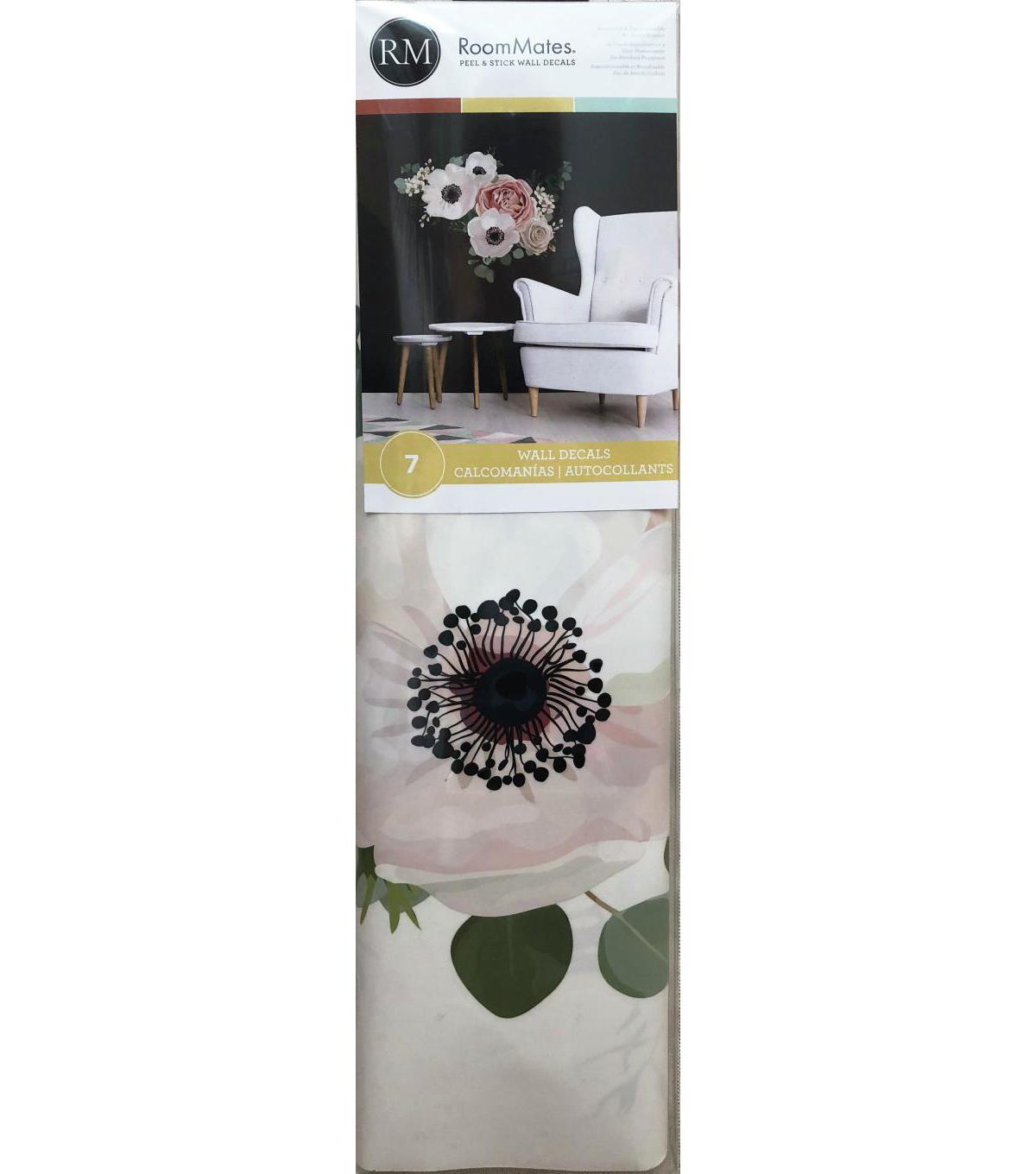 gerbera 3 flowers stencil craft,fabric,glass,furniture,wall art up to A0