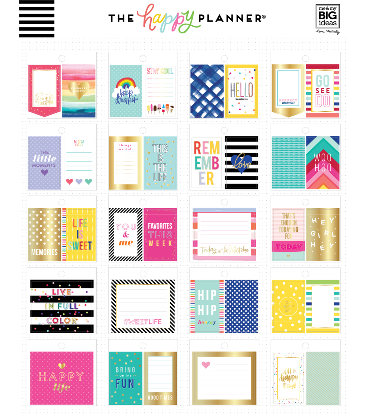 The Happy Planner Tiny Sticker Pads-Bold & Bright