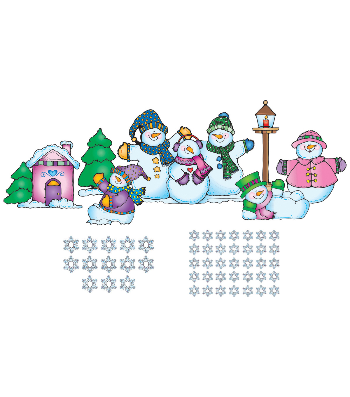 Snow Pals Bulletin Board Set, 2 Sets