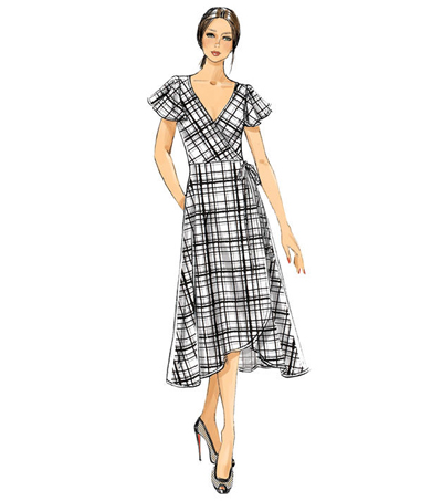 Vogue Pattern V9251 Misses\u0027 Wrap Dresses-Size 8-10-12-14-16