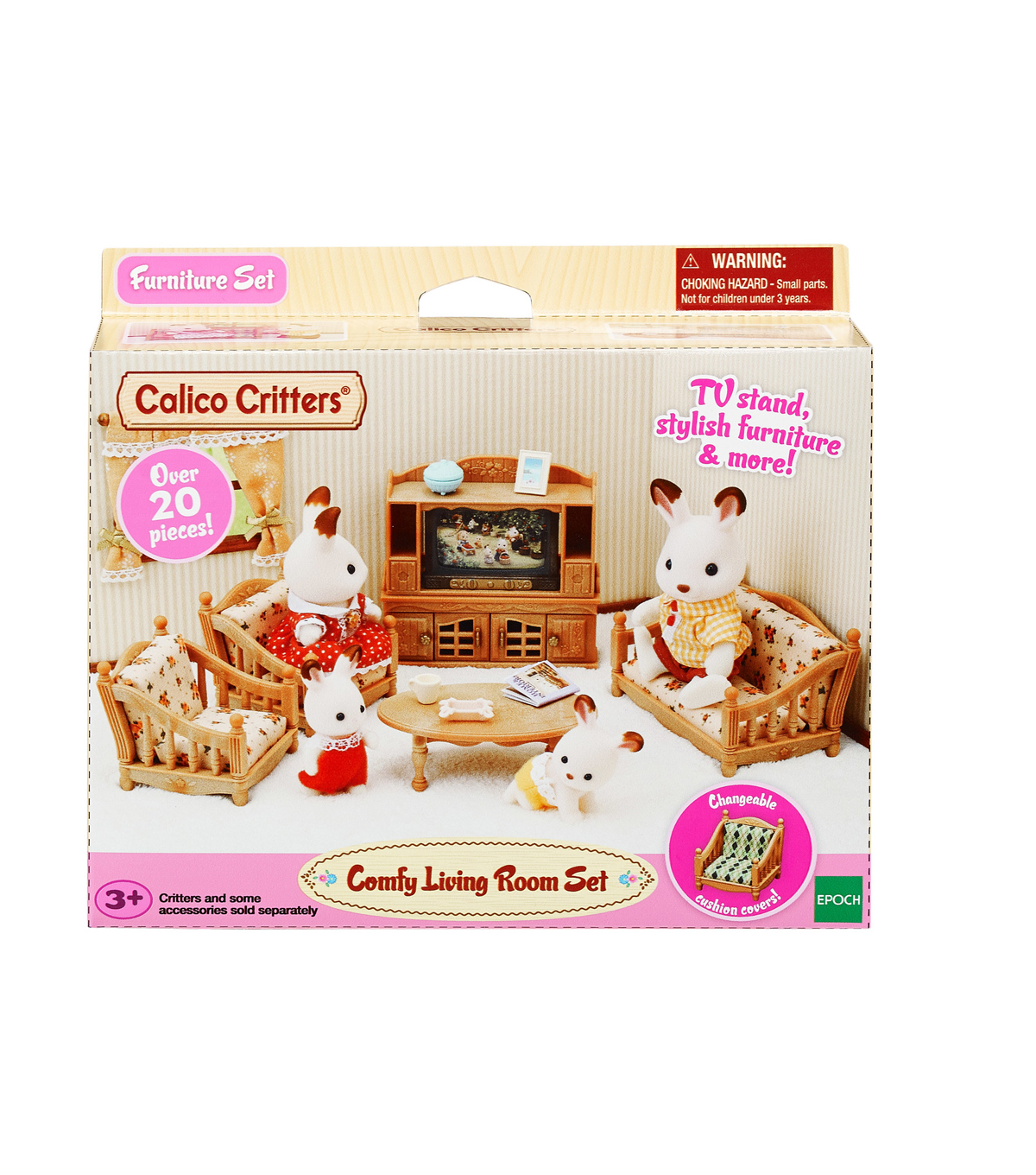 Calico Critters Living Room.Calico Critters Comfy Living Room Set