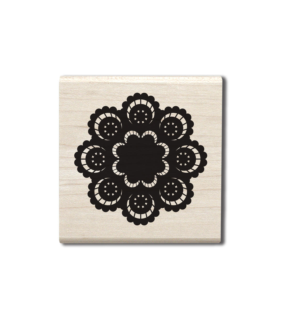 Jillibean Soup Wood Stamp-Doily I Large