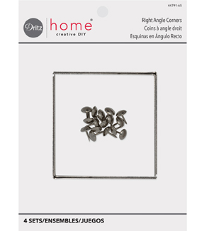 Dritz Home Right Angle Corners-Nickel