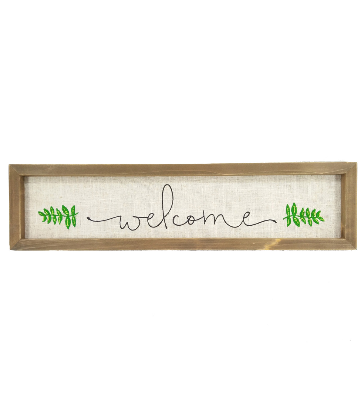 Simply Spring Large Embroidery Wood Wall Decor-Welcome