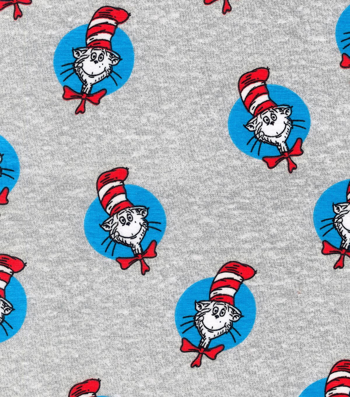 Dr. Seuss Knit Cotton Fabric-Cat In The Hat