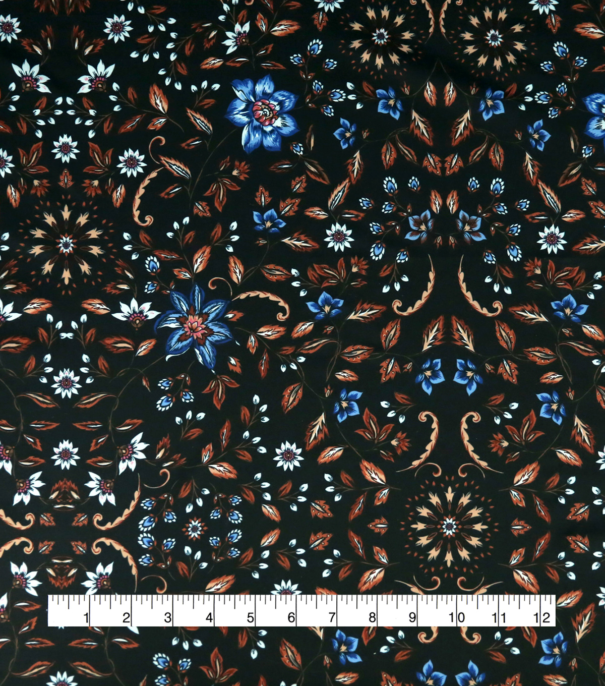 Downtown Collective Anti-Statis Lining Fabric 59\u0022-Floral Vines Black