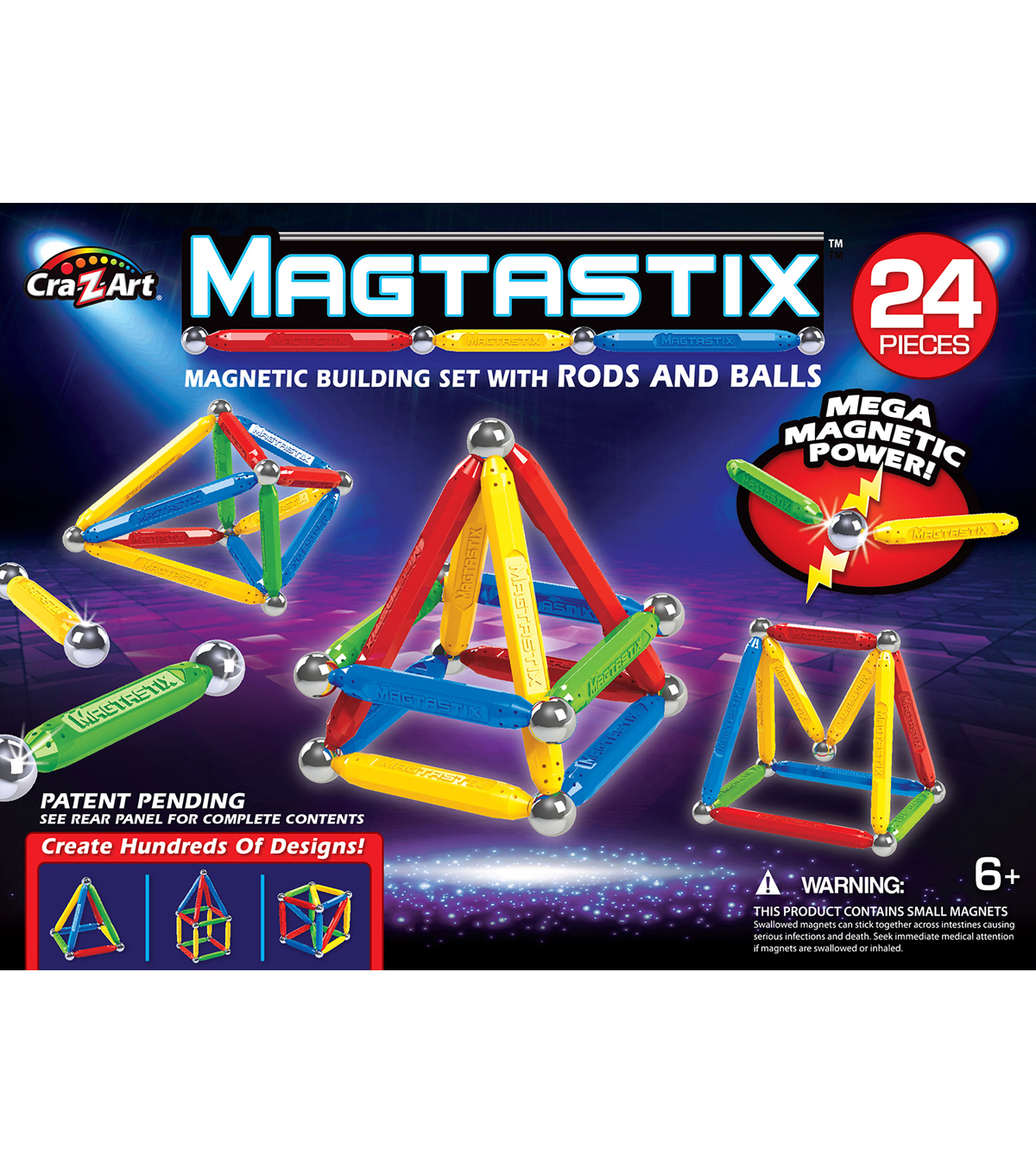 CraZart 24pc Magtastix Set