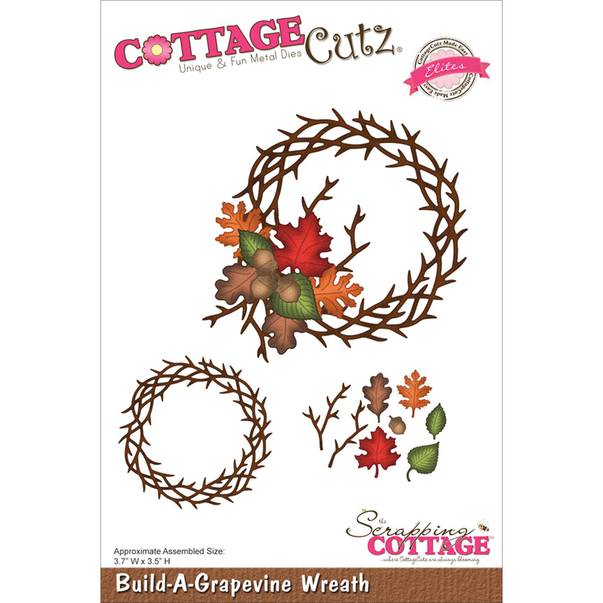 CottageCutz Elites Die Build-A-Grapevine Wreath