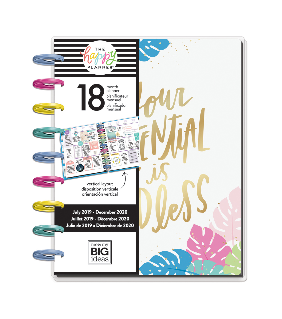 The Happy Planner 18 Month Planner-Pastel Tropics