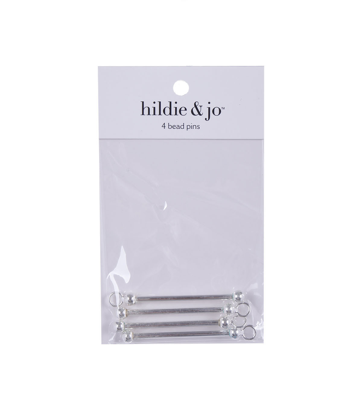 Darice 2.5 In Bead Pins-4pcs-Silver