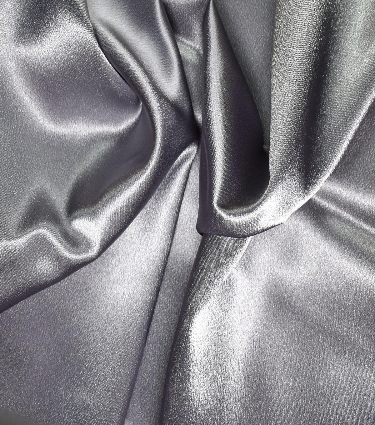 """SATIN BACK CREPE FABRIC  PLATINUM SILVER GRAY  POLYESTER 60/"""" WIDE FORMAL WEAR"""