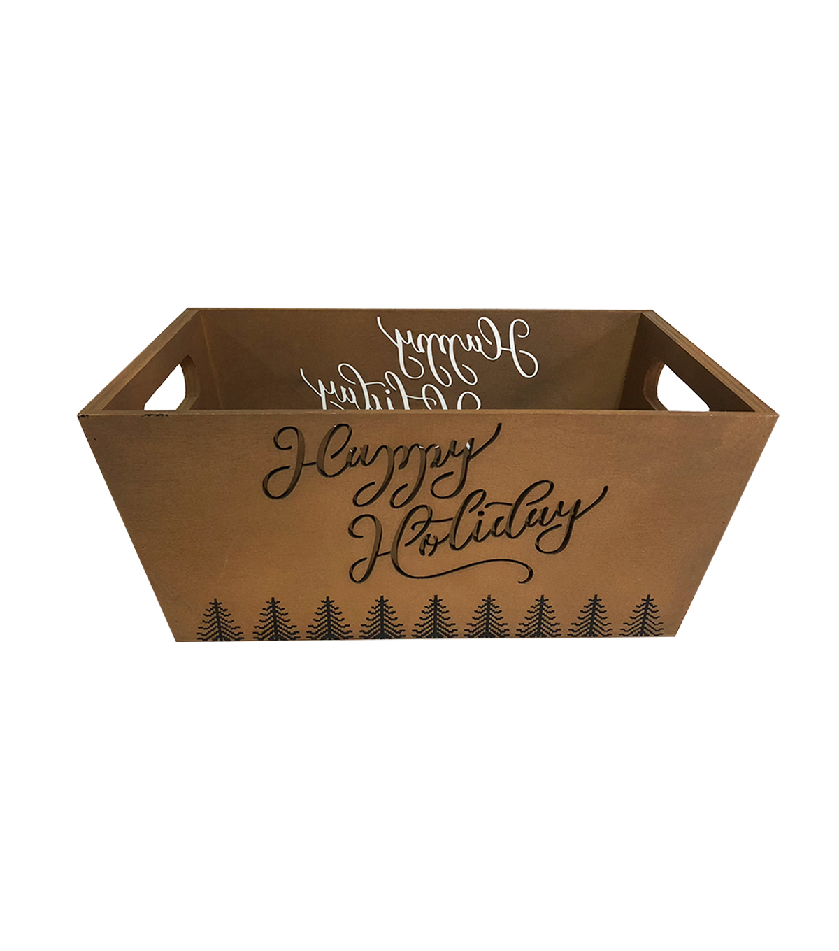 Maker\u0027s Holiday Christmas Laser-cut Happy Holiday Crate