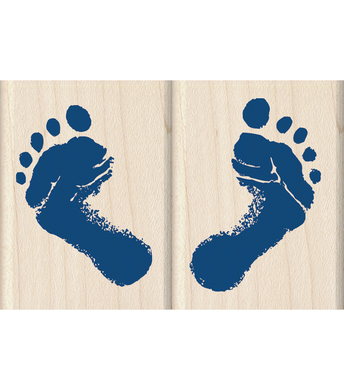 Inkadinkado Baby\u0027s Feet Wood Mounted Stamps Set