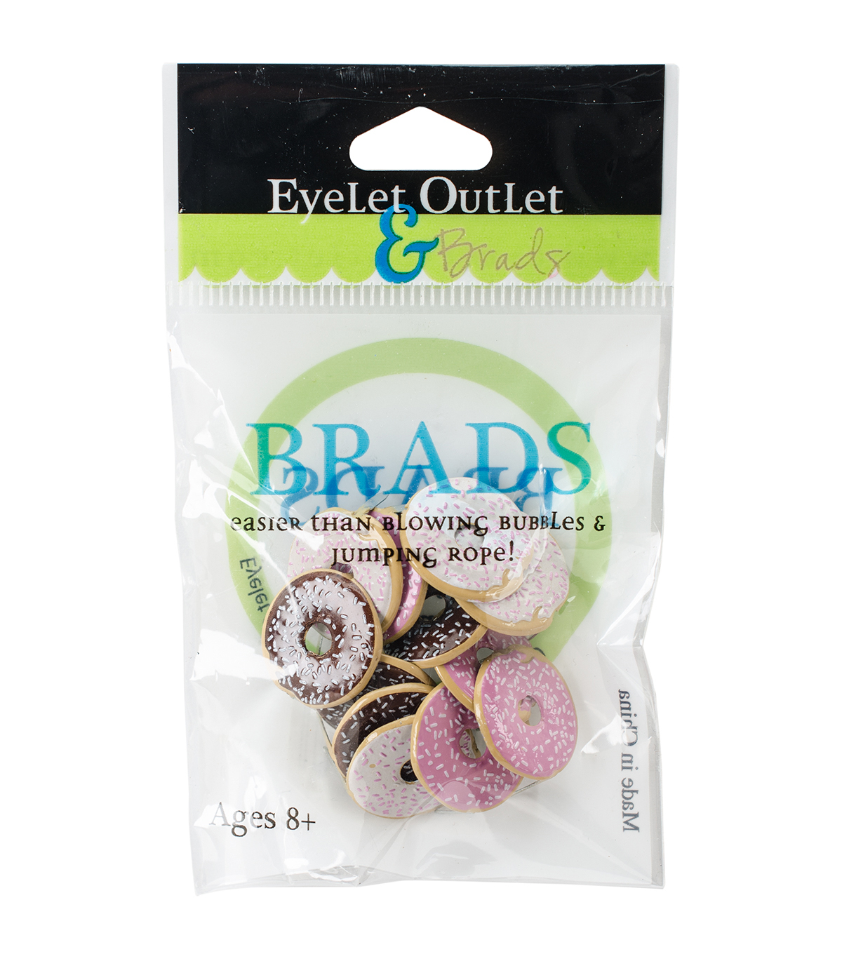 Eyelet Outlet 12ct Shape Brads-Doughnut