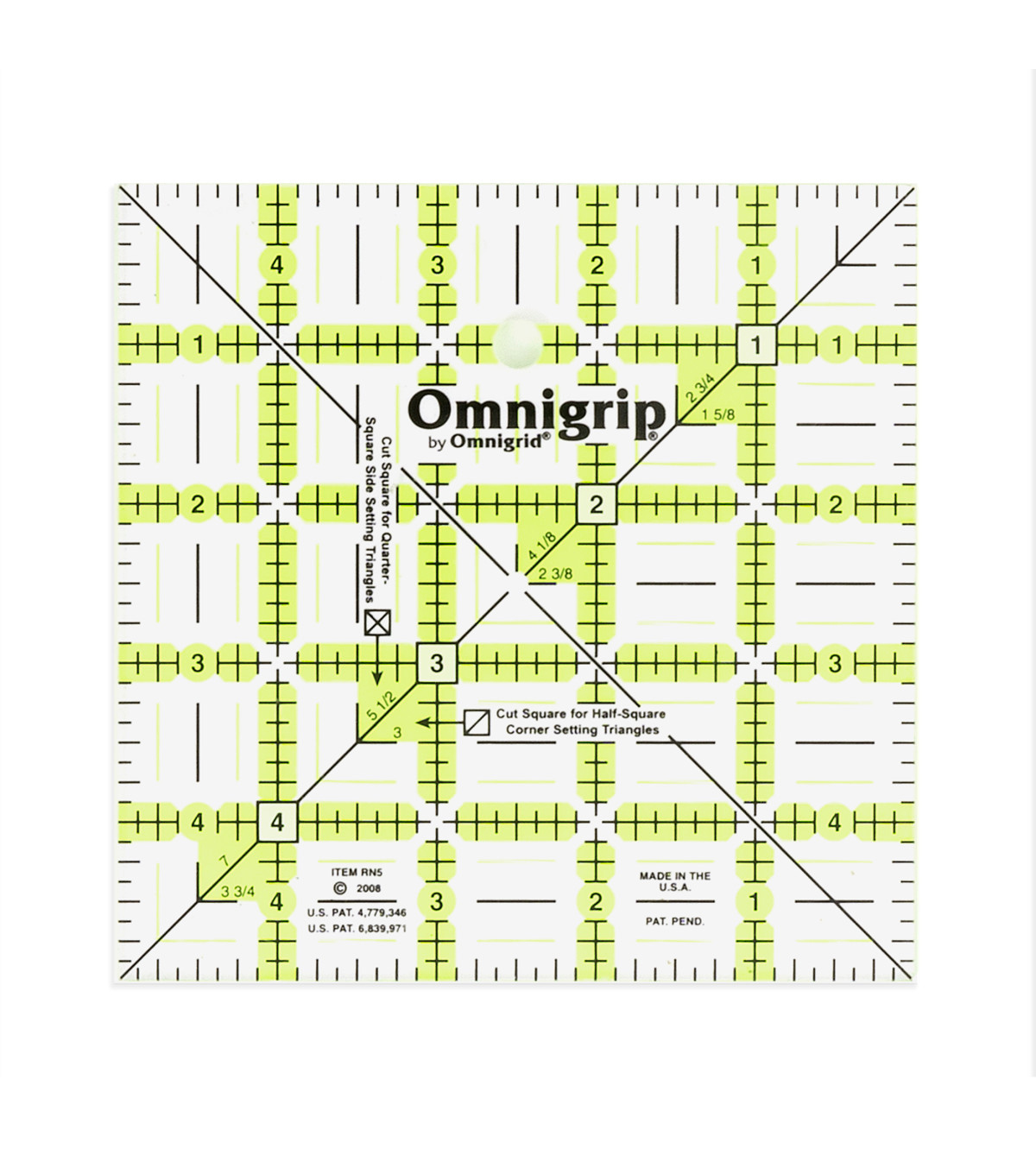 Omnigrip by Omnigrid Non-Slip Quilter\u0027s Ruler For Cutting & Squaring