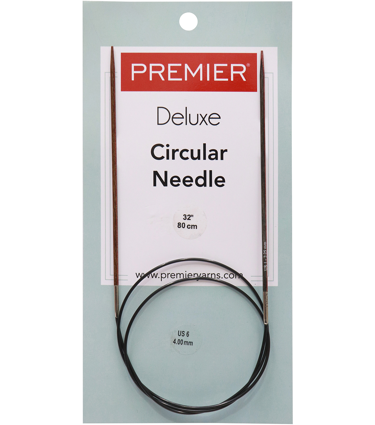 Premier Yarns Fixed Circular Needles 32\u0022-Size 6/4mm