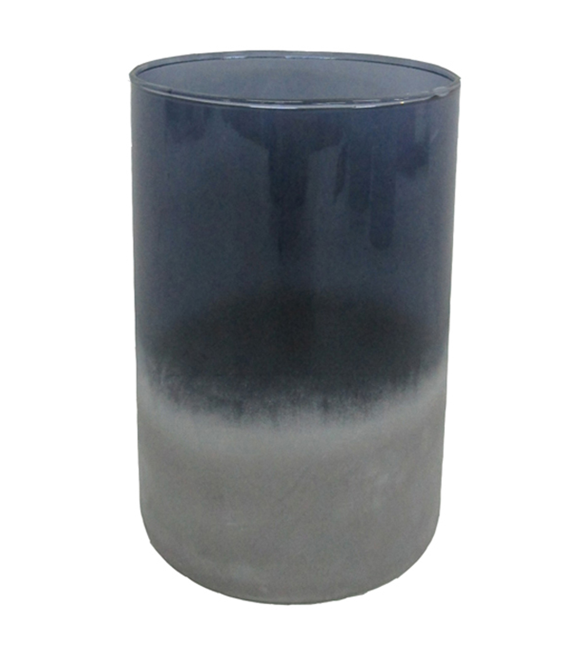 Blooming Autumn Medium Glass Vase-Tonal Indigo