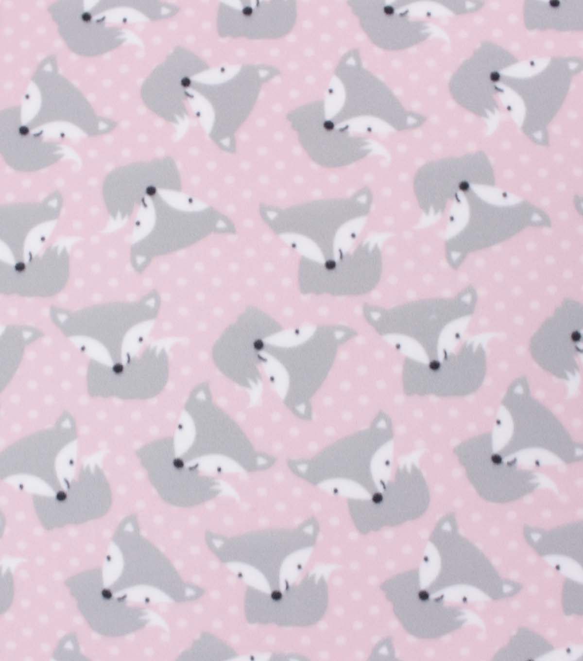 Blizzard Fleece Fabric-Tossed Foxes and Dots