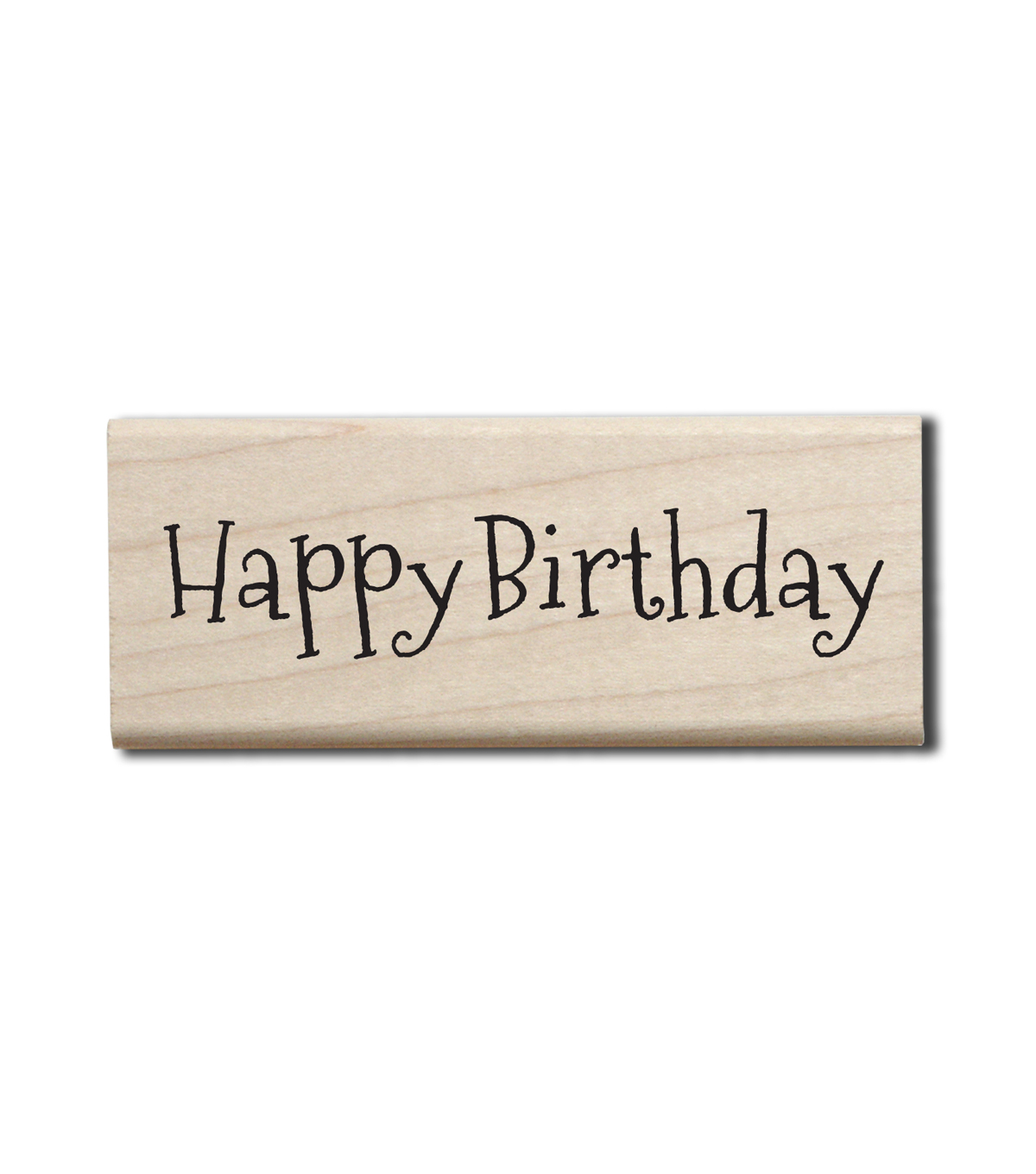 Hampton Art Wood Stamp-Happy Birthday