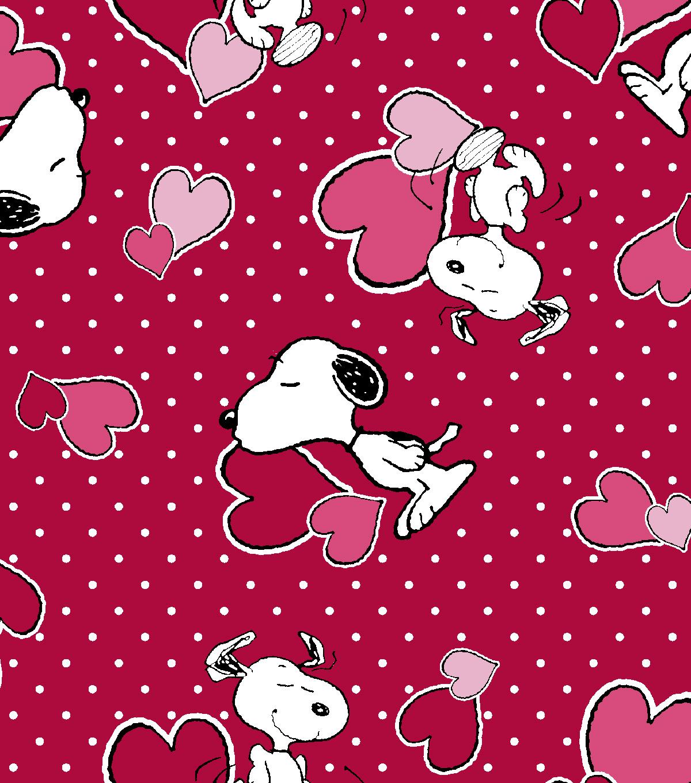 Valentine Print Fabric Peanuts Valentine Red Joann