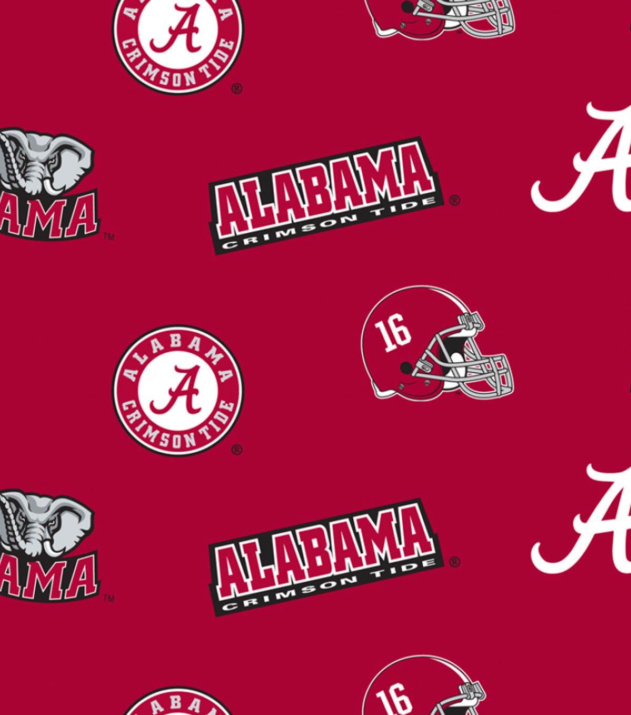 University of Alabama Crimson Tide Fleece Fabric 58\
