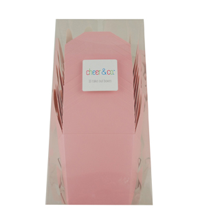 Cheer & Co. 10 pk Take Out Boxes-Light Pink