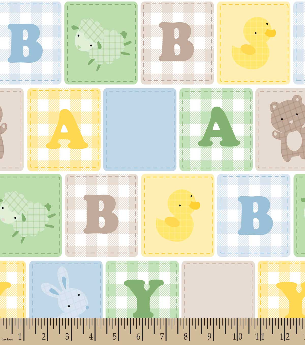 Baby Blocks Print Fabric