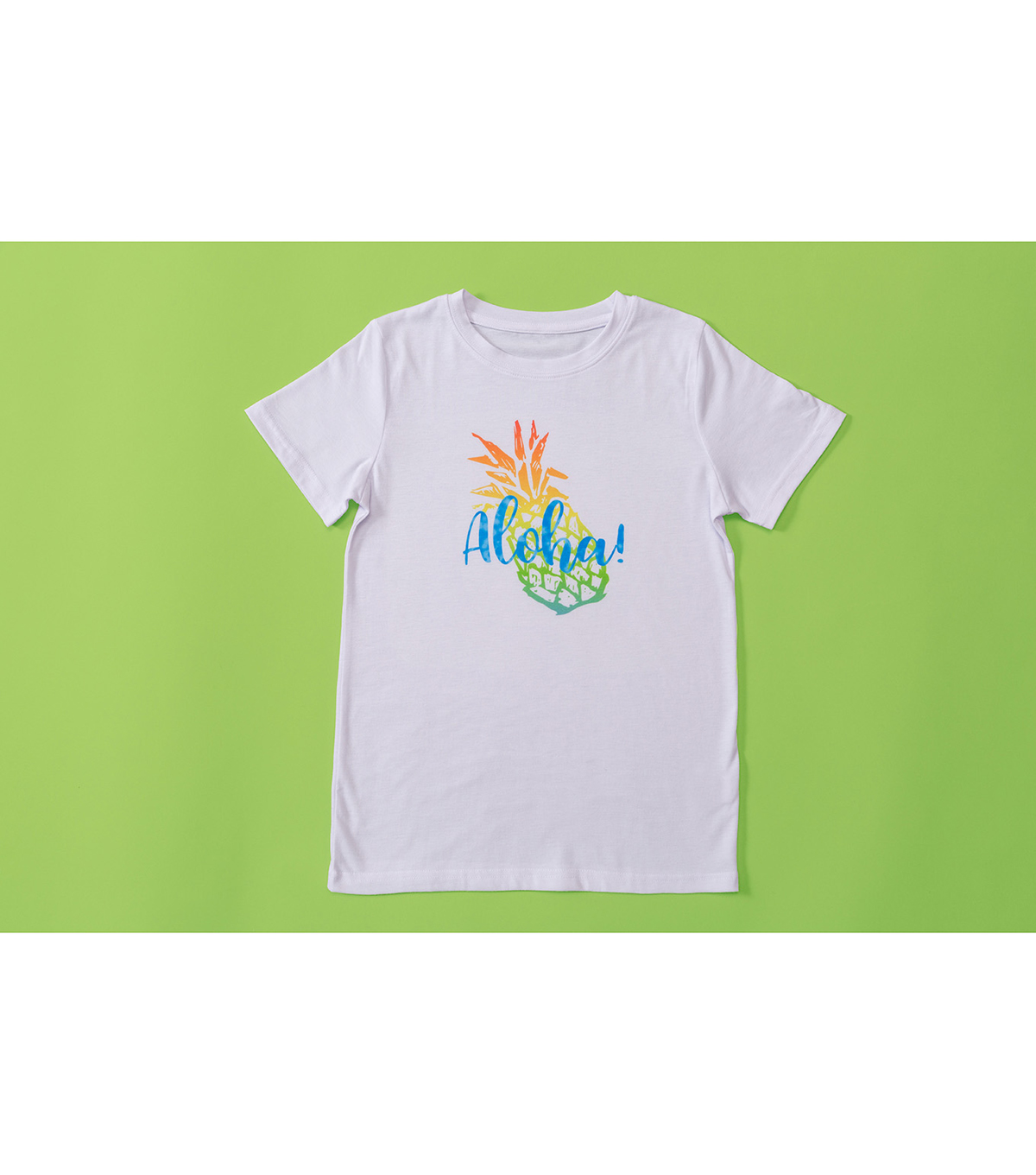 Cricut Infusible Ink Youth Crew Neck T-Shirt -White