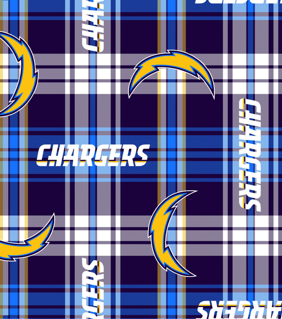 Nfl Fleece Fabric San Diego Chargers Plaid Joann
