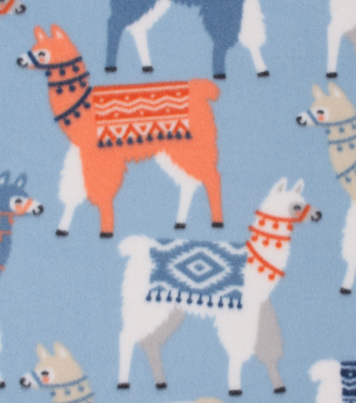 Blizzard Fleece Fabric -Tribal Llamas