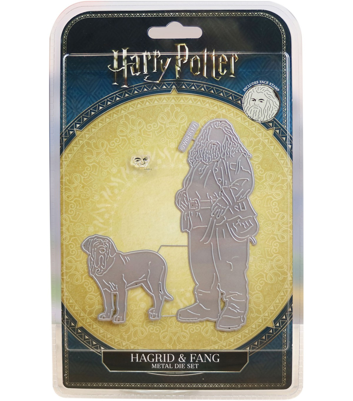 Harry Potter Metal Dies with Face Stamp-Hagrid & Fang