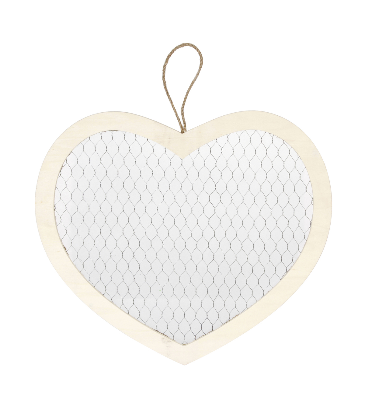 Darice Unfinished Wood Heart Frame with Chicken Wire