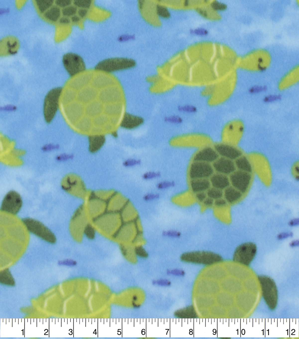 Blizzard Fleece Fabric-Swimming Turtles