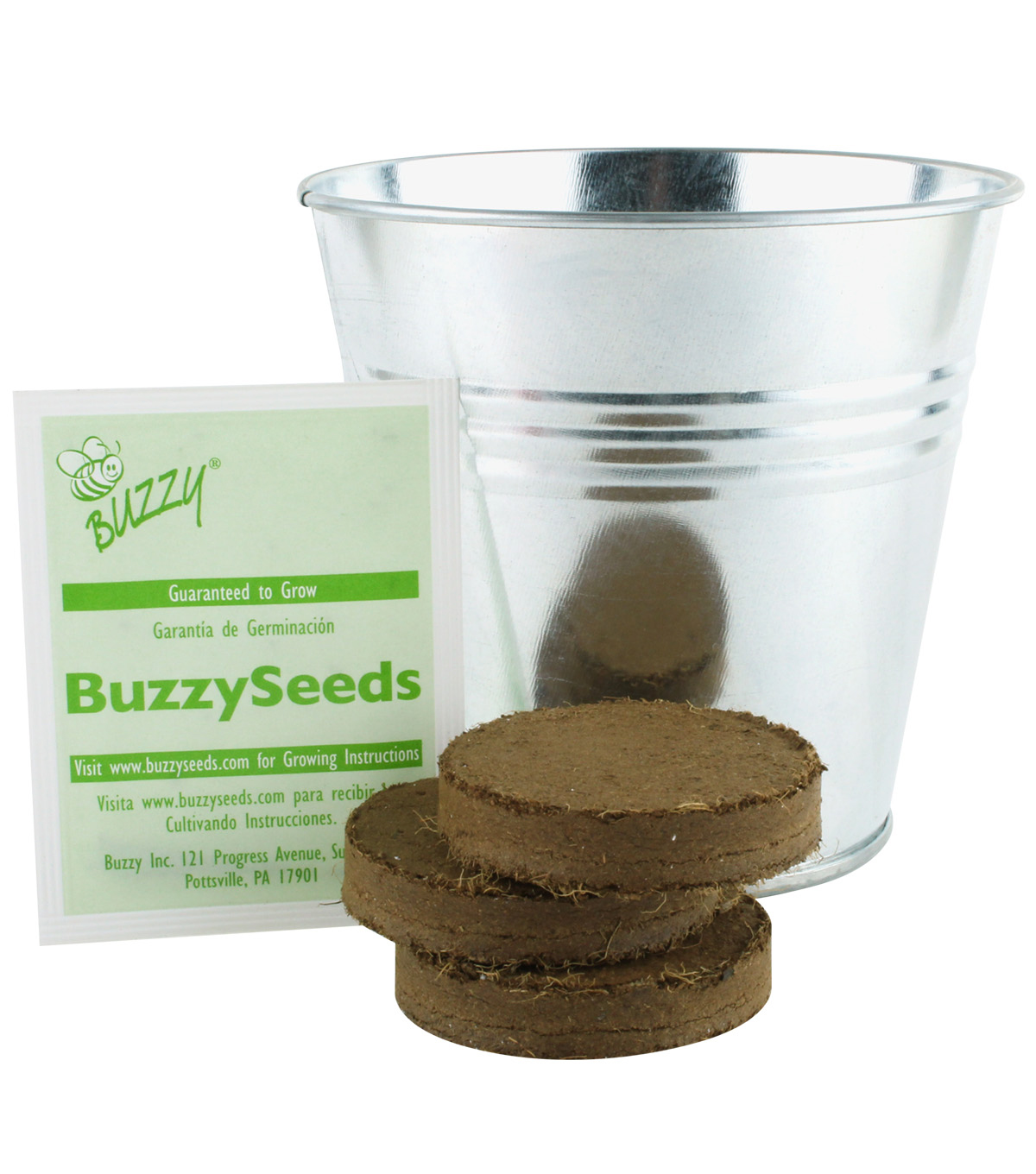 Buzzy Kale DIY Grow Kit with Galvanized Metal Pail