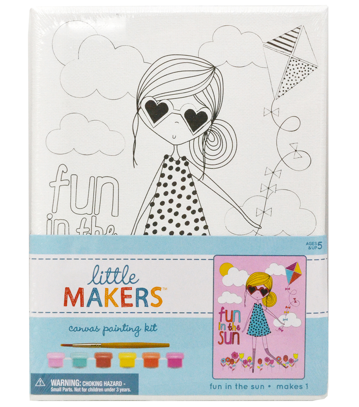 Little Makers 6X8 Canvas Kit-Fun In The Sun