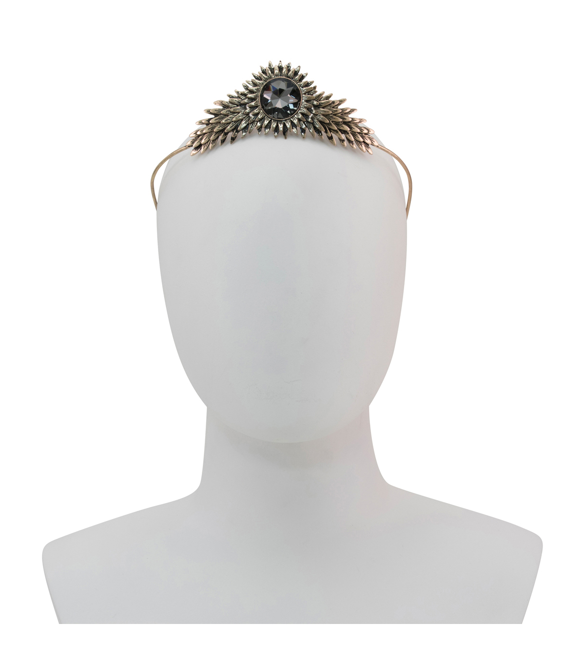 Maker\u0027s Halloween Antique Gold Adult Crown with Gem