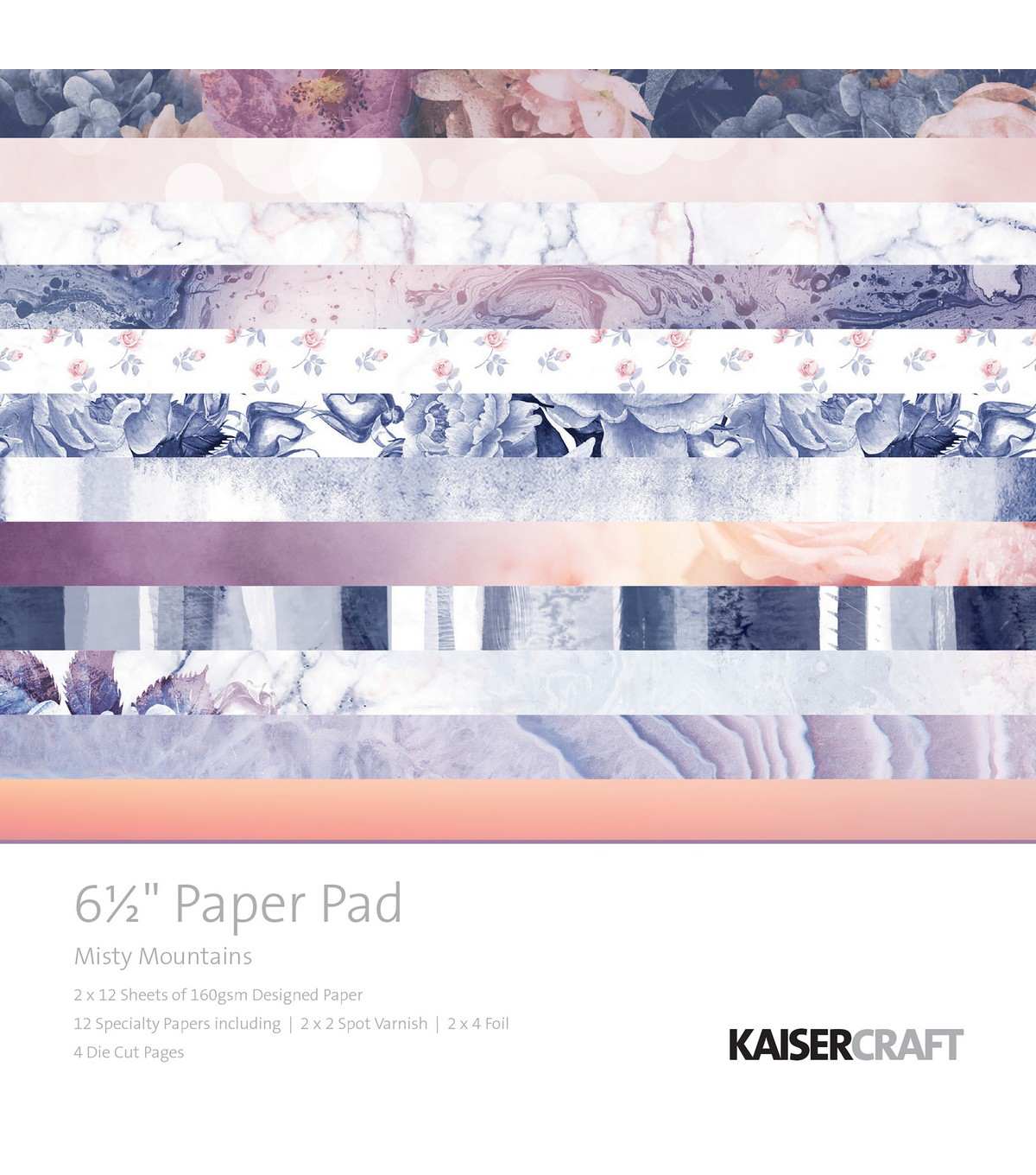 Kaisercraft Misty Mountains 40-sheets 6.5\u0027\u0027 Paper Pad