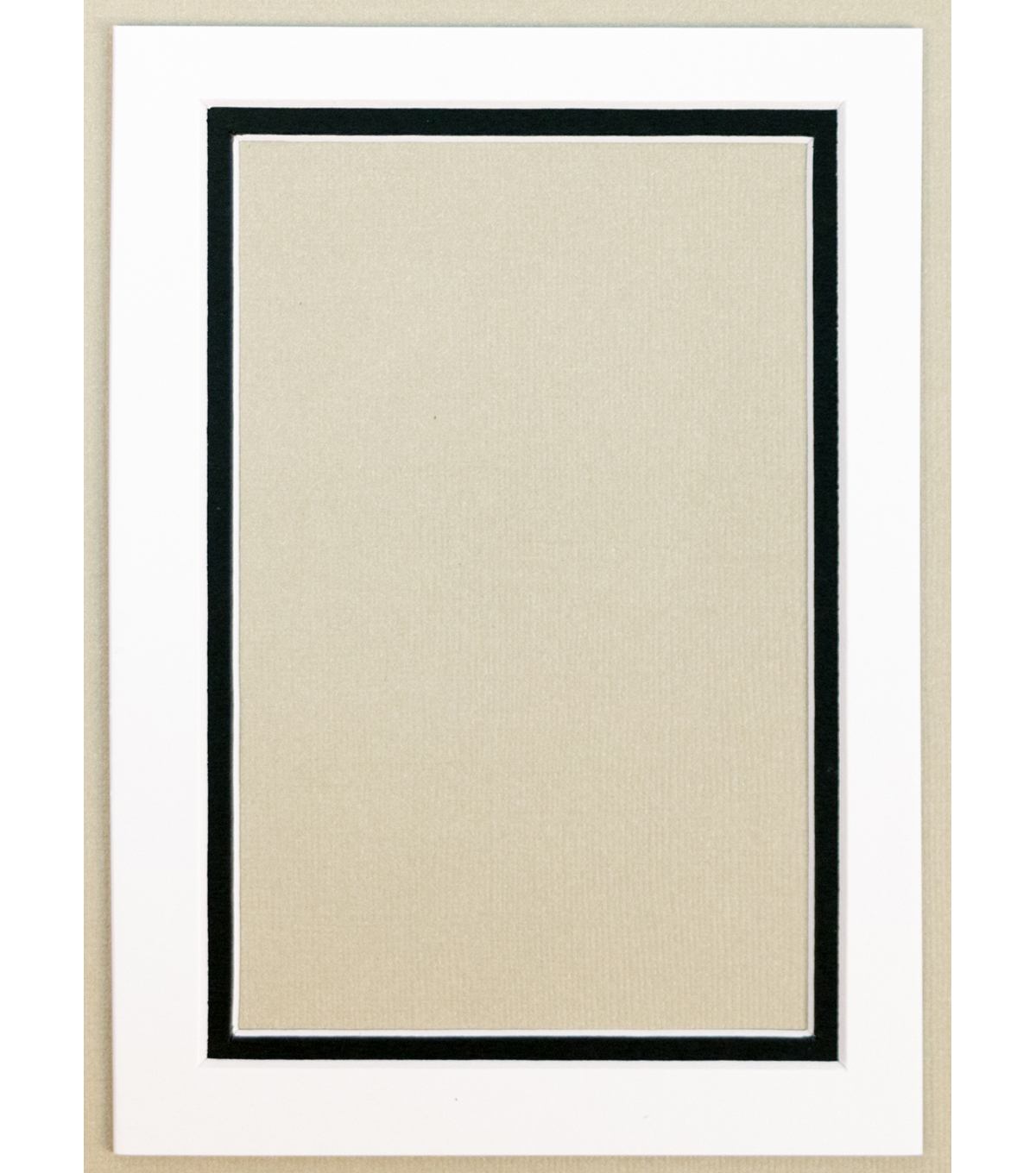 Framing Mats 5X7-White With Black