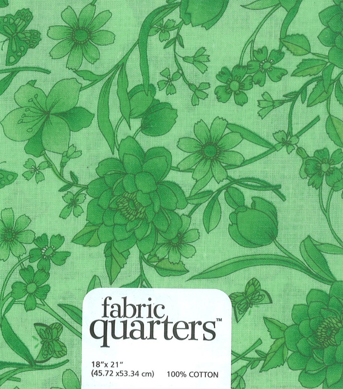 Fabric-Quarters Cotton Fabric-Assorted Green