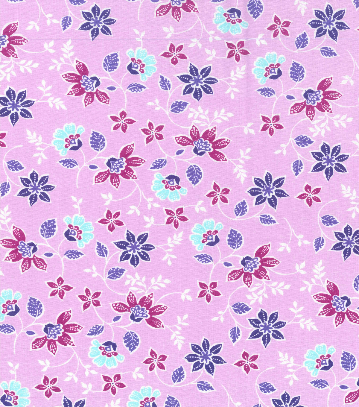 Keepsake Calico Cotton Fabric 43\u0022-Small Butterfly Floral on Purple