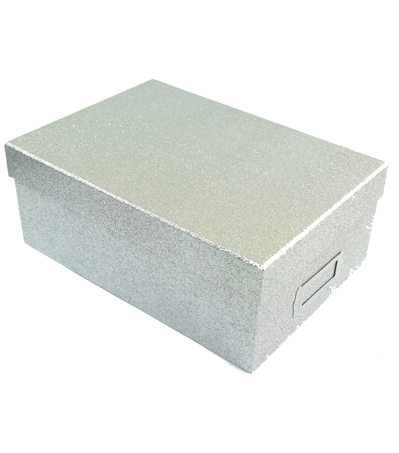 Incroyable Silver Glitter Photo Storage Box