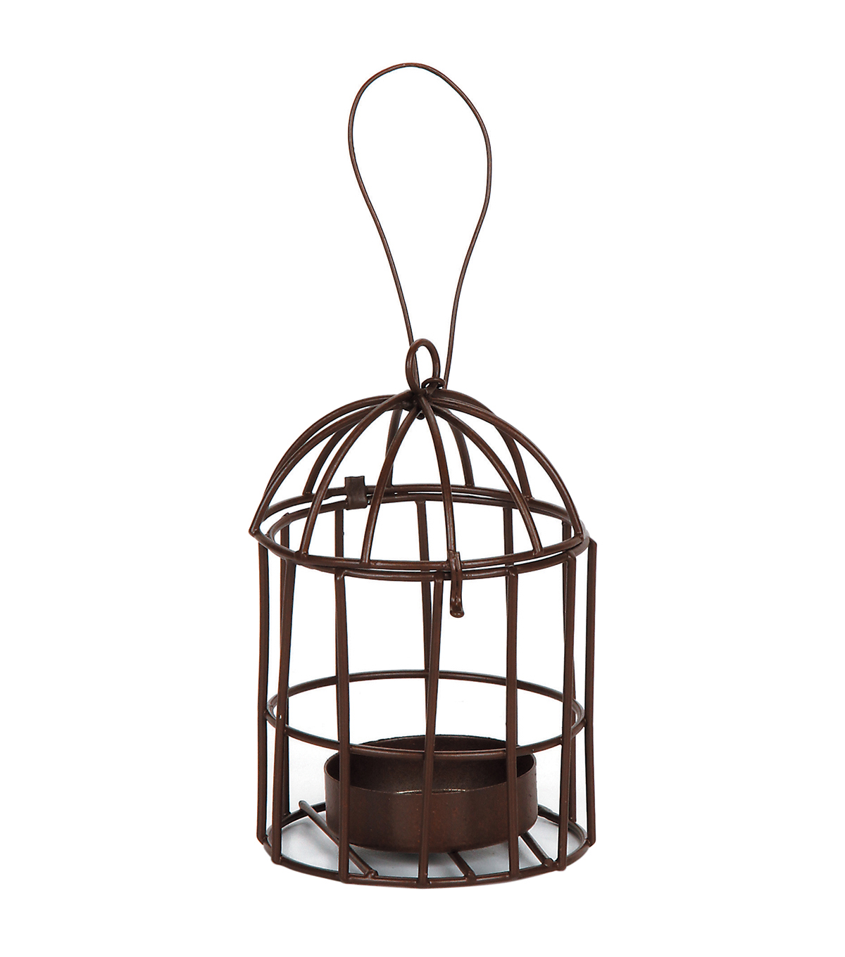 Timeless Miniatures-Metal Birdcage W/Tealight Holder