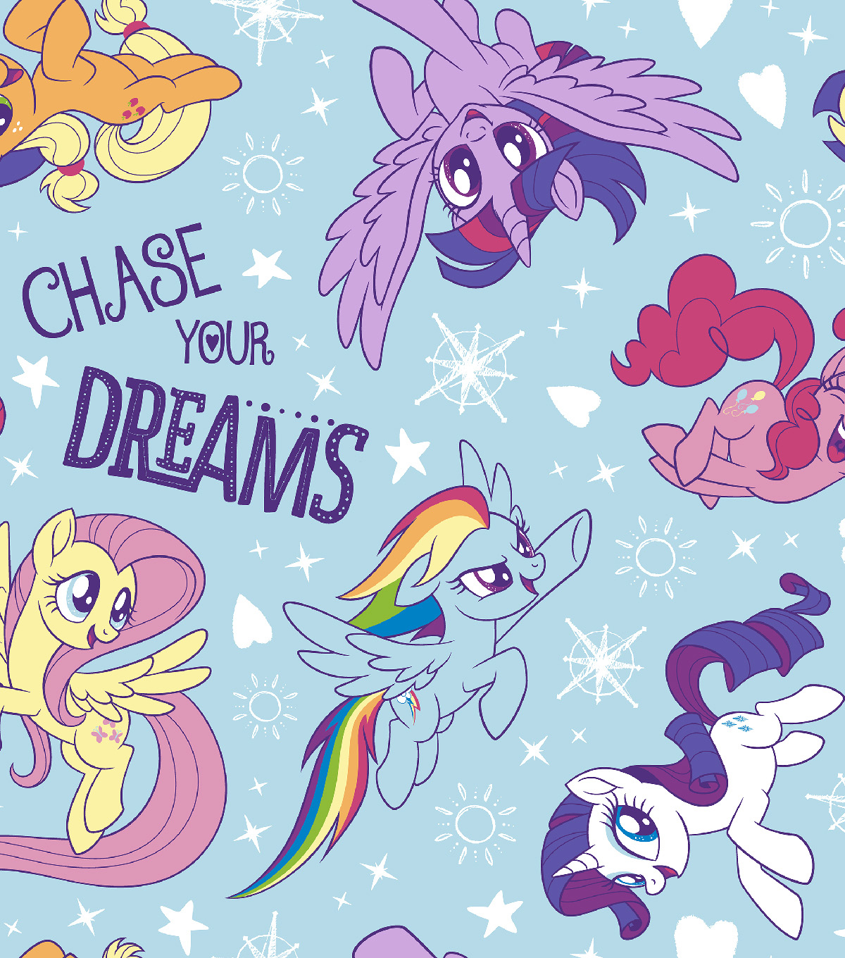 Hasbro My Little Pony Flannel Fabric 42\u0022-Dare To Discover