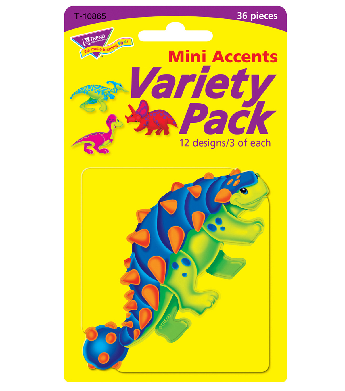 Dino-Mite Pals Mini Accents Variety Pack, 36 Per Pack, 6 Packs